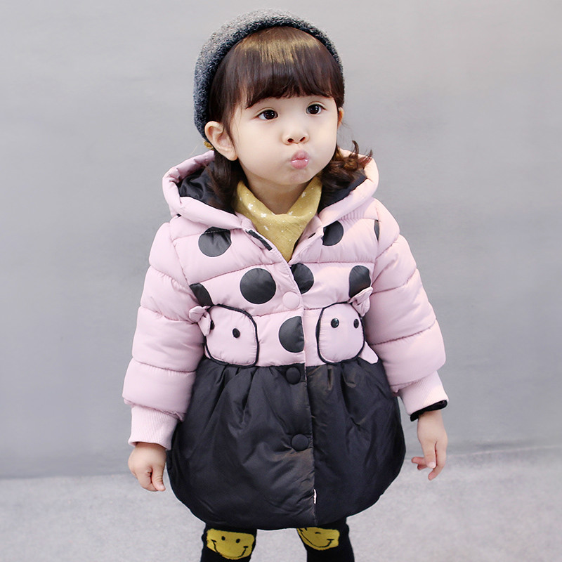Children Clothing Girls Winter Jacket Padded Parka Down Cotton 2017 Hooded Girl Winter Coats Kids Zipper Casual Outerwear girl jacket winter children outerwear warm cotton padded coats princess girl s hooded coats baby thickening down