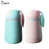 YiHao 300ML Thermos Children Cartoon Rabbit Vacuum Flasks Double Layer Stainless Steel Mug Tea Coffee Insulation