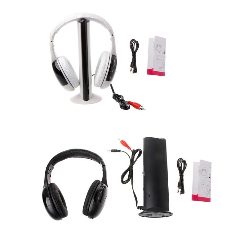 1Pc New 5 in 1 Hi-Fi Wireless Headset Headphone Earphone for TV DVD MP3 PC 5 in 1 wireless stereo headset headphone transmitter fm radio for tv dvd mp3 pc l060 new hot