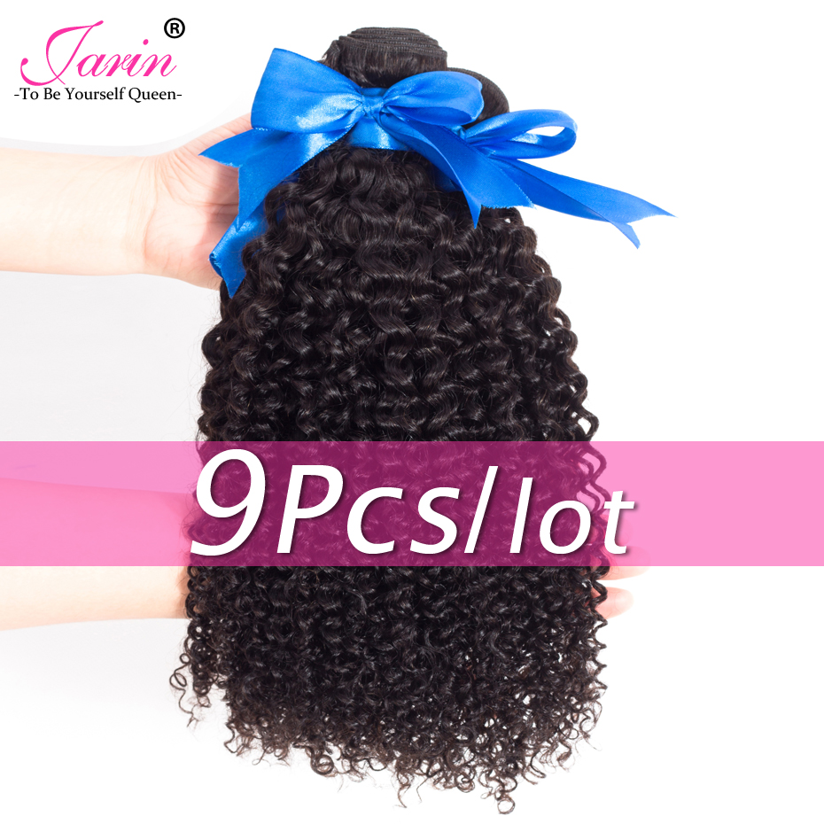 Jarin Hair Mongolian Kinky Curly Hair 9 Bundles/lot Natural Color 8 26 inch Remy 100% Human Hair Weaving Fast One Week Delivery-in Hair Weaves from Hair Extensions & Wigs    1