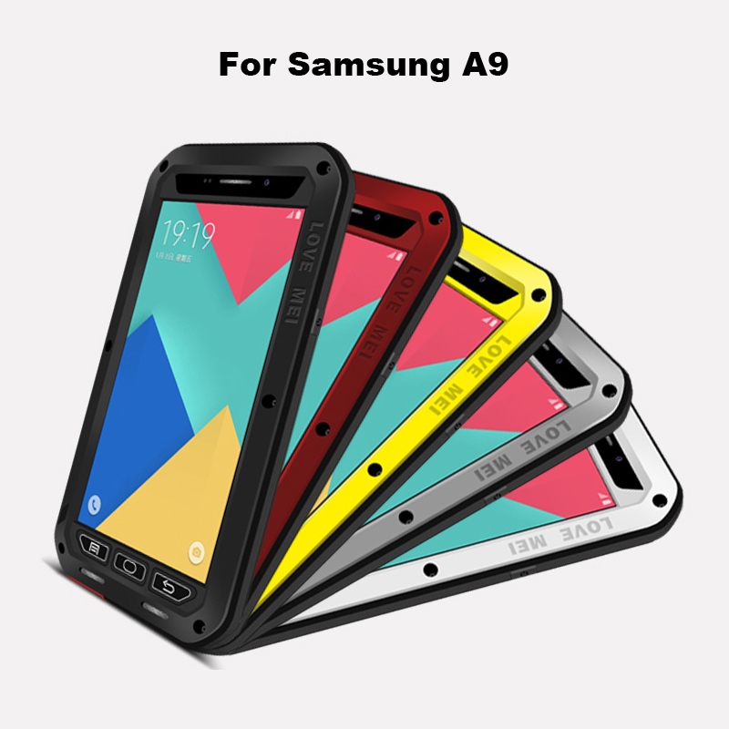 LOVE MEI Armored Hybrid Cover Waterproof Case for SAMSUNG Galaxy S3 S4 S5 S6 S7 Edge Plus Note 3 5 4 Edge A3 A5 A7 A9 Alpha