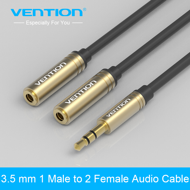 vention audio cable jack male to 2 female earphone. Black Bedroom Furniture Sets. Home Design Ideas