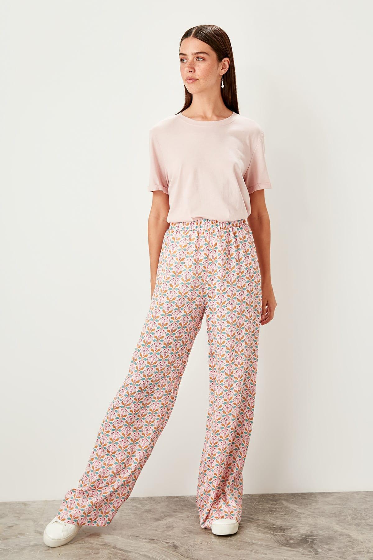 Trendyol Multicolour Pattern Pants TWOSS19PL0085
