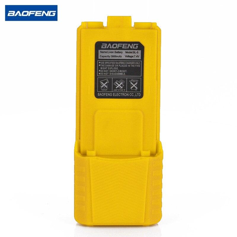 Baofeng UV-5R Jaune Talkie Walkie Batterie BL-5 Étendue 3800 mAh 7.4 V Li ion Batterie Rechargeable Batterie pour UV-5R BF-F8 Radio