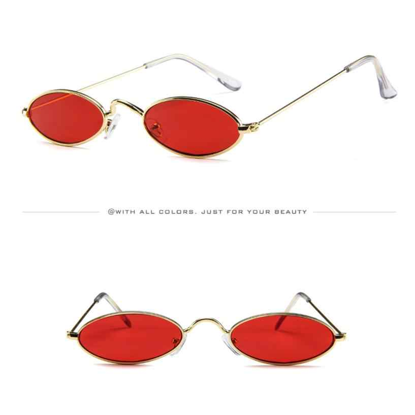 Feitong Moda Causal Pequeno Oval Óculos De Armação De Metal Das Mulheres Óculos De Sol Retro Shades Eyewear Óculos de Sol oculos de sol feminino 2019