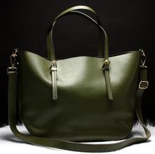 Damenmode Aus Echtem leder taschen hight qualität casual schultertasche aus Echtem leder Handtaschen Europäischen und Amerikanischen stil