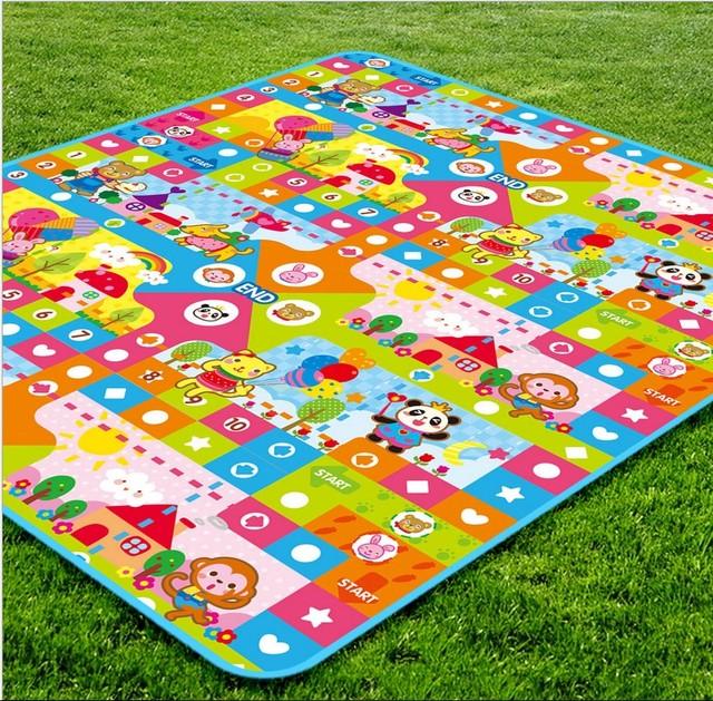 Todo Bebê Engatinhando Tapete Puzzle De Espuma Crianças Ginásios Playmats Jogo Esteiras de Ginástica Ao Ar Livre 235x180x2
