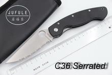 JUFULE OEM Gezackten C36/C81 Real D2 61 HRC Camping jagd MULTI Überleben Pocket Freien EDC Werkzeuge Küche obst menuemesser