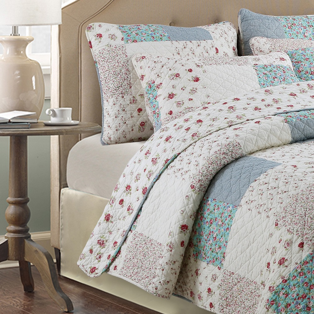 furnishings ditsy patchwork bedding from covers duvet soft iliv floral decoupage cover