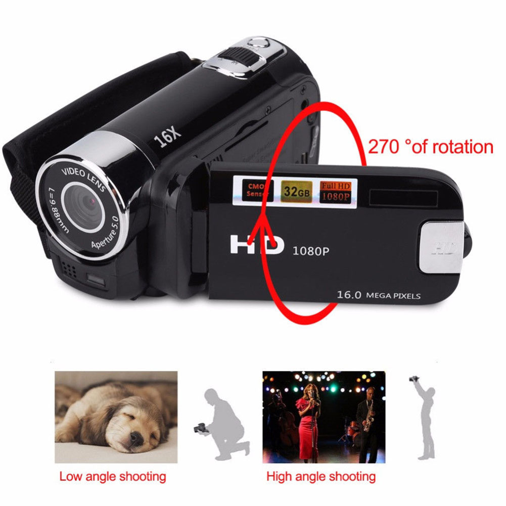 Anti-shake LED Light Digital Camera 1080 HD  Video Record Camera Professional Timed Selfie Gifts High Definition Night Vision