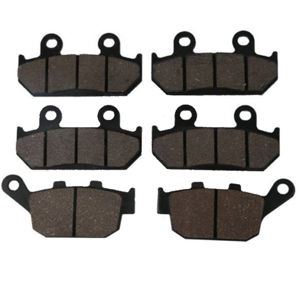 Motorcycle Semi-Metallic Sintered Front Rear Brake Pads For HONDA CBR250R CBR 250 R HURRICANE 1986 - 1988 1987 motorcycle semi met brake pads set for honda xr250 xr 250 s r 1996