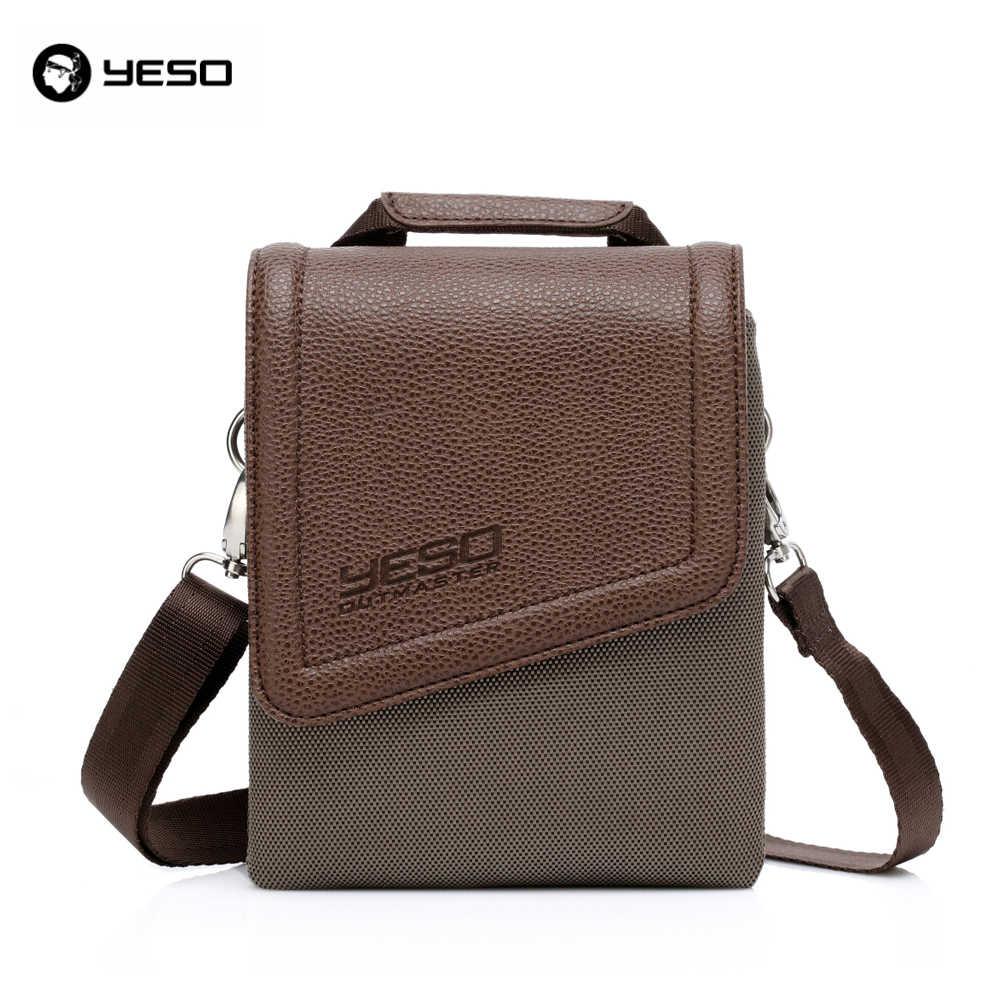 9cce9468c908 YESO брендовые непромокаемые нейлоновые и полиуретановые кожаные винтажные  мужские и женские сумки-мессенджеры через плечо