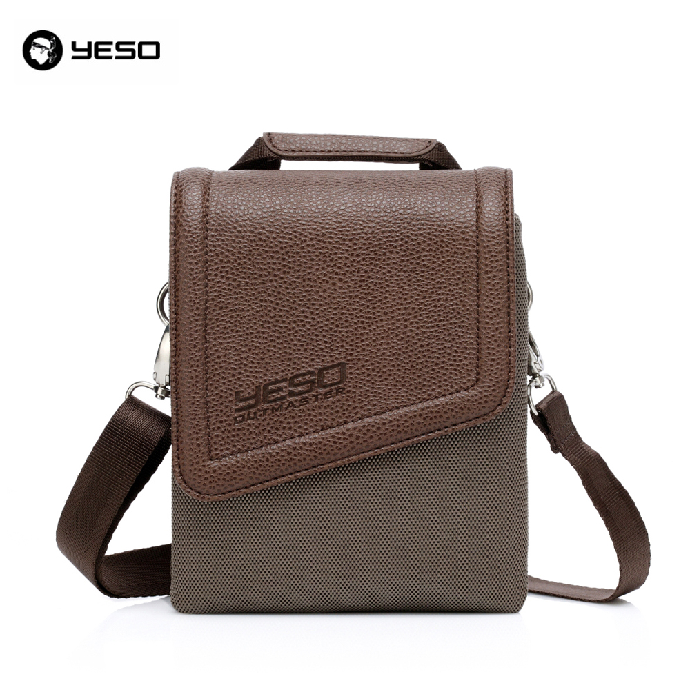 YESO Brand Waterproof Nylon and PU Leather Vintage Men and Women Messenger bags Crossbody Bags Handbag Cross Body for Ipad Mini