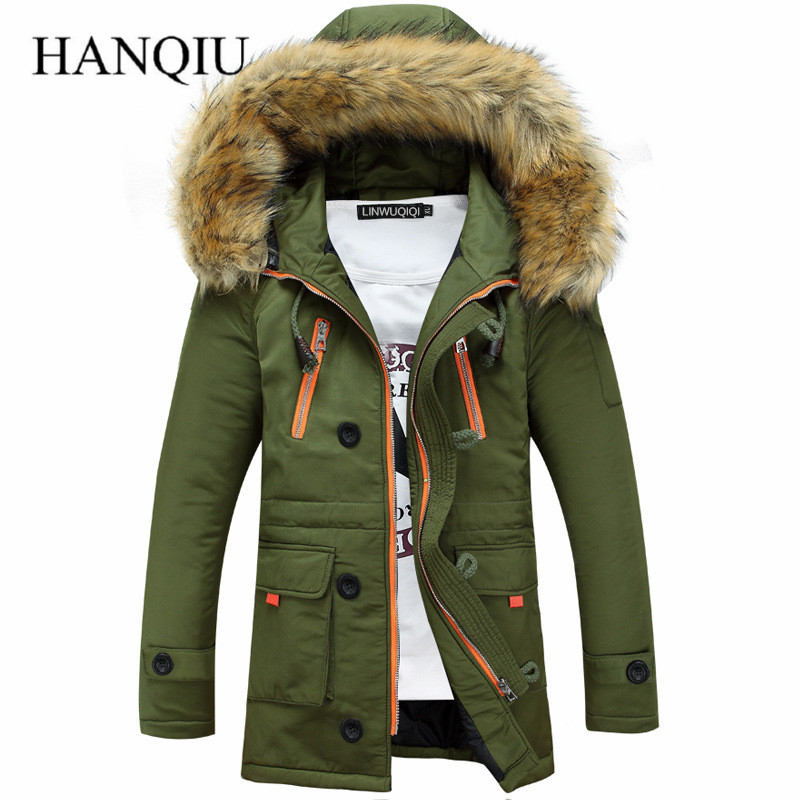 Thickening Parkas Winter Jacket Men Coats Male Outerwear Plus Size Casual Long Down Cotton Wadded men Hooded Coat