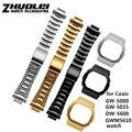 Hoge kwaliteit 316L rvs horlogeband en case voor Casio DW5600 GW-5000 5035 GW-M5610 metalen band staal riem gereedschap