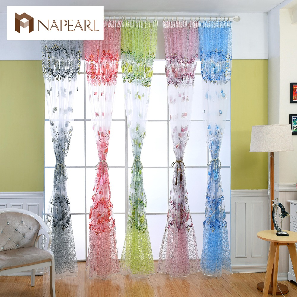 rustic pastoral design transparent tulle curtains window. Black Bedroom Furniture Sets. Home Design Ideas