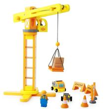 The high quality Wooden Crane Model Educational toys Children s toys creative building blocks Birthday gift