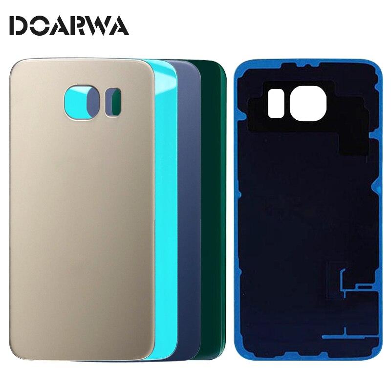 Nouveau Verre Batterie Dos de Couverture de Logement Pour SAMSUNG Galaxy S6 S6edge Porte Arrière Cas De Rechange Pièces De Rechange Pour G920F G925F