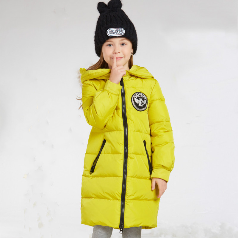 2019 Winter Girls Childrens Down Jacket New Style Medium Length  Thickened  Hooded Childrens Wear Down Jacket.2019 Winter Girls Childrens Down Jacket New Style Medium Length  Thickened  Hooded Childrens Wear Down Jacket.