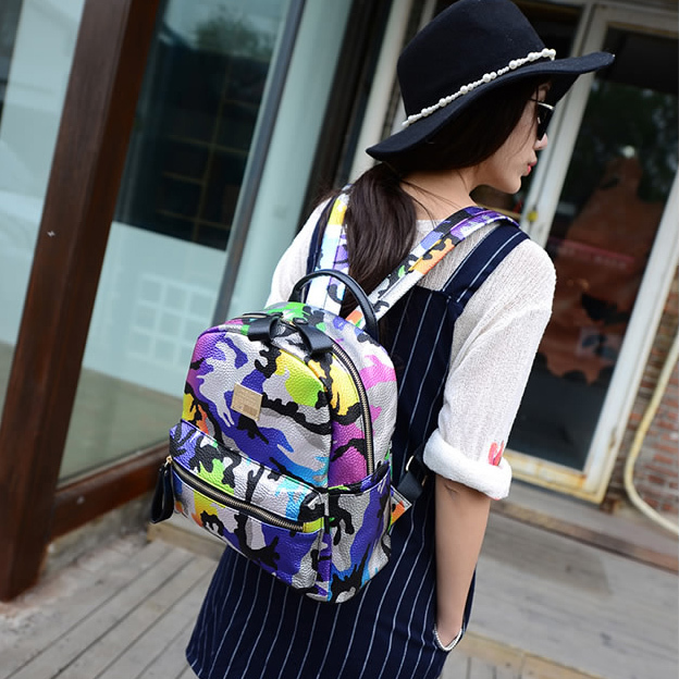 dda96c1f790b Rainbow color Camouflage Camo backpack Colorful sunny unique children  shoulders bags Mini kids girls boys travel bags-in Backpacks from Luggage    Bags on ...