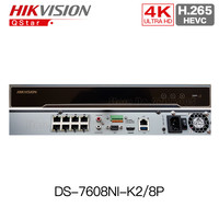 HIKVISION English Version DS 7608NI K2 8P Embedded Plug Play 4K NVR Support H 265 2SATA