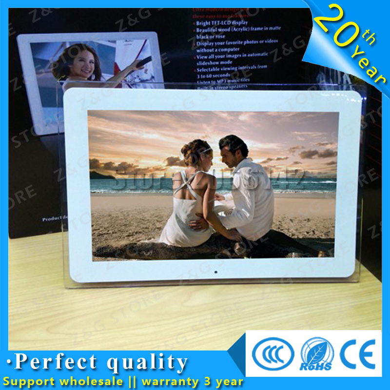 New 12 inch LCD Multifunctional Picture Digital Photo Frame with MP3/MP4 Player HongKong Post Air Parcel 10 inch ultra thin digital photo frame