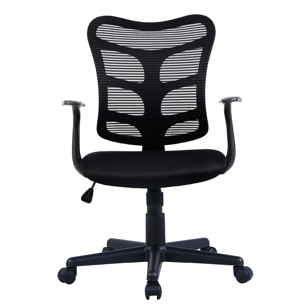 Goplus RU Office Chair Ergonomic Mid-back Mesh Swivel Computer Desk Task Chair Black Modern Lifting Armchairs HW51434 computer chair household without armrest ergonomic office chair student staff mesh chair lifting swivel chair seat