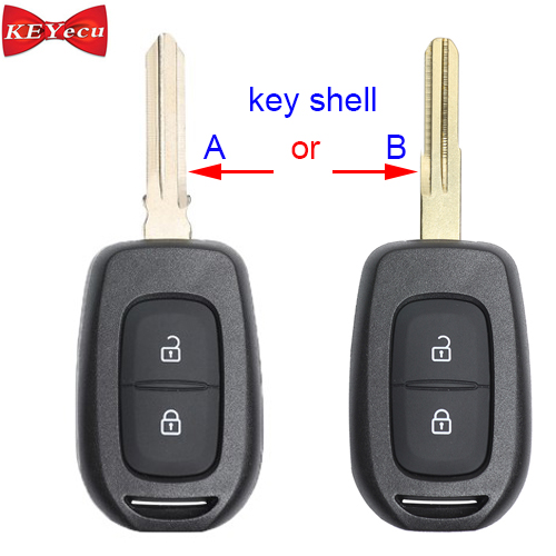 KEYECU For Renault Duster Dokker Trafic Clio4 Master3 Logan Replacement Remote Car Key Shell Case Fob Housing Cover 2Btn