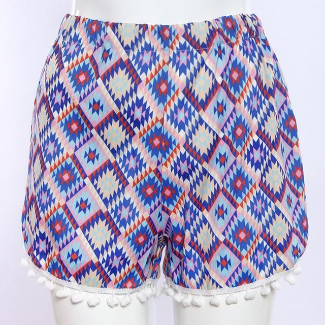 Casual Flower Summer Shorts 1