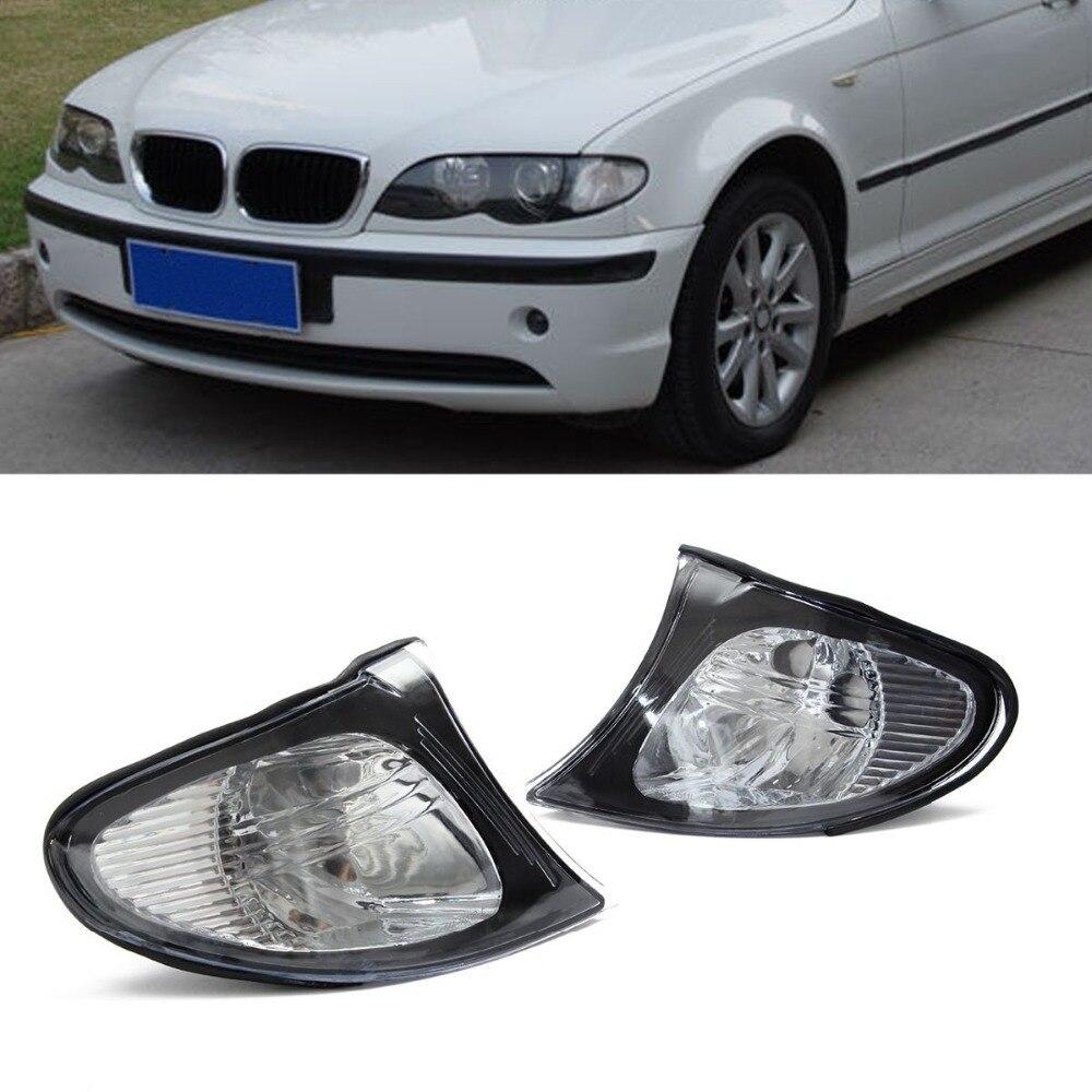 For BMW 2002-2005 E46 3-SERIES Facelift 4DR Sedan Corner Lights - Crystal Clear Lens 320i 325i 330i