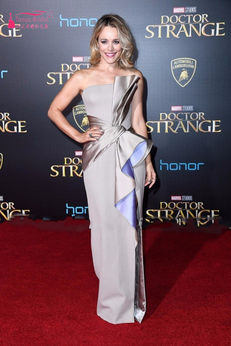 conew_rachel_mcadams_silver_strpless_thigh-high_slit_evening_prom_gown_doctor_strange_premiere_2016_conew2