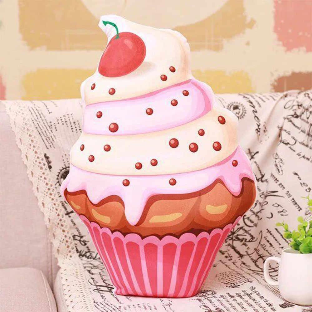Розовые вишневые подушки для мороженого, детская подушка, украшение дома, реквизит для камеры, PP хлопок, almofa taie de coussin, украшения, подарки