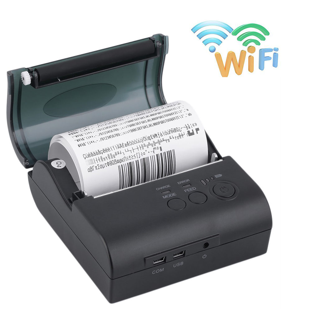 80mm Wireless Wifi Thermal Receipt Printer Protable WIFI printer for Windows Android IOS Smartphone