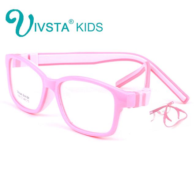 IVSTA 519 49-15 TR90 Gafas Para Niños Chicas chicos estudiantes Deportes prescription Marco Óptico de Silicona con correa de retención ambliopía