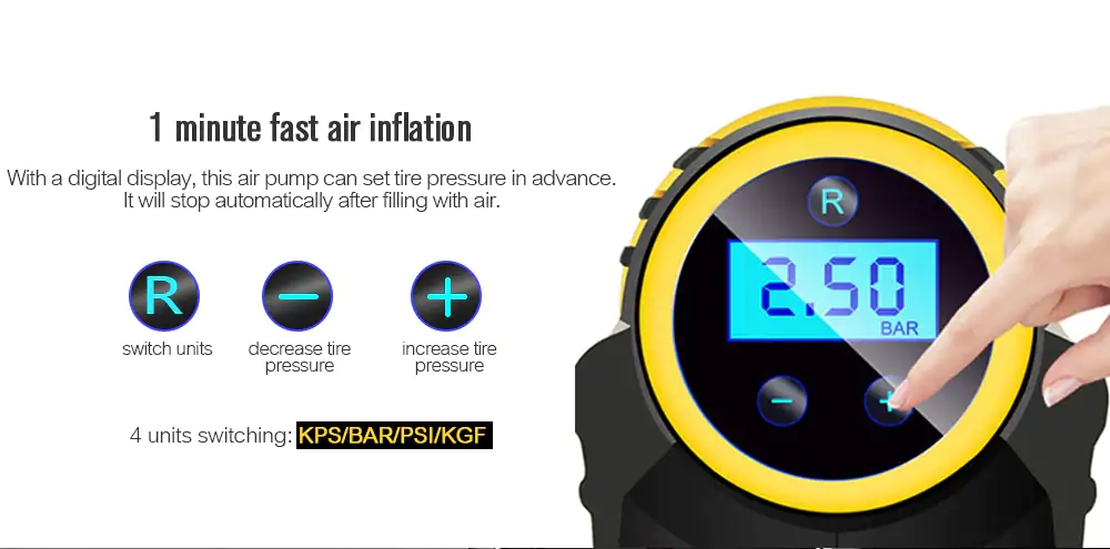 Car Cordless tyre Air pressure inflatable pump