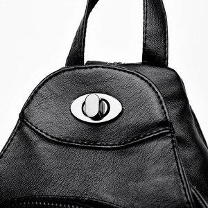 Image 5 - Casual Backpack Female Brand Leather Womens Backpack Designer Shoulder Bags for Women 2018 Travel Backbag Chest Bag Mochila