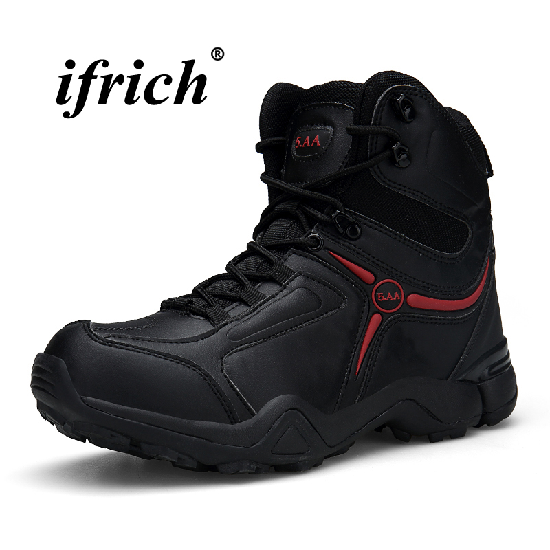 Climbing Boots for Men Plus Size 39-46 High Top Sneakers Male Black Sand Man Hiking Shoes Winter Rubber Bottom Combat Boots 2018 climbing boots for men brown man hiking shoes rubber bottom tactical boots male anti slip lace up man mountain shoes