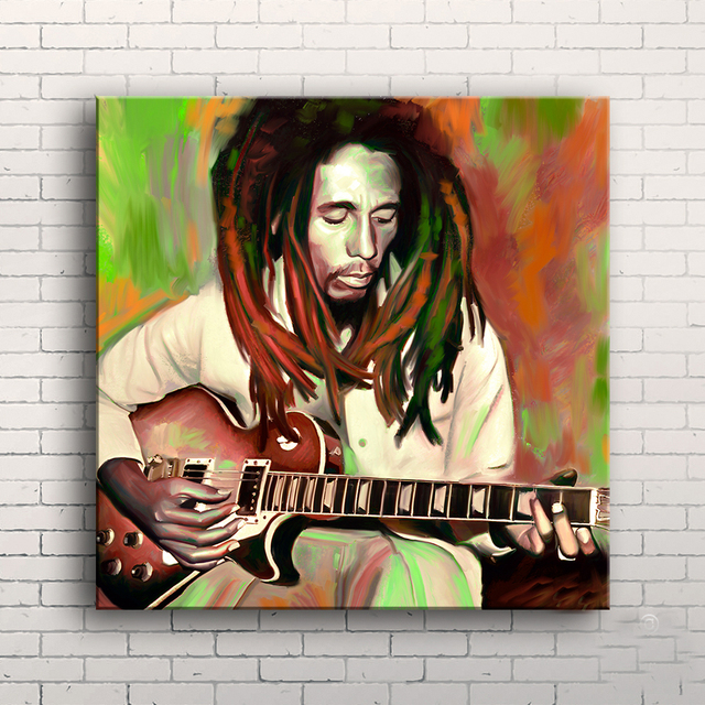 TOP Rock Music oil painting- bob marley Reggae ROCK Music ART 24 inch -100% hand painted WORK—-free shipping cost
