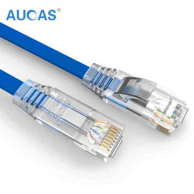 AUCAS High Speed 0.5m 1m 5m 10m 15m Cat6 Cable UTP Flat Patch Cable Ethernet Lan Network cable RJ45