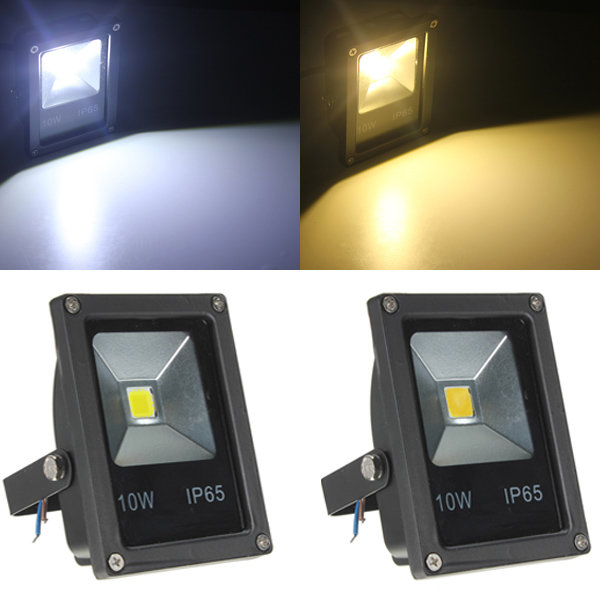 Rgb Led Floodlight Ac85 265v 10 Watts Cob Leds Waterproof Spotlight For Garden Landscape Park Lighting With Remote Controller