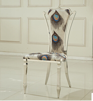 Кожаный стул. Дом отдыха. Стул из нержавеющей стали спинка байковые мода