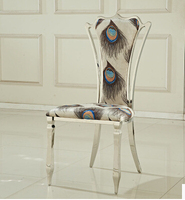 Leather chair. Leisure home. Stainless steel chair backrest flannelette fashion