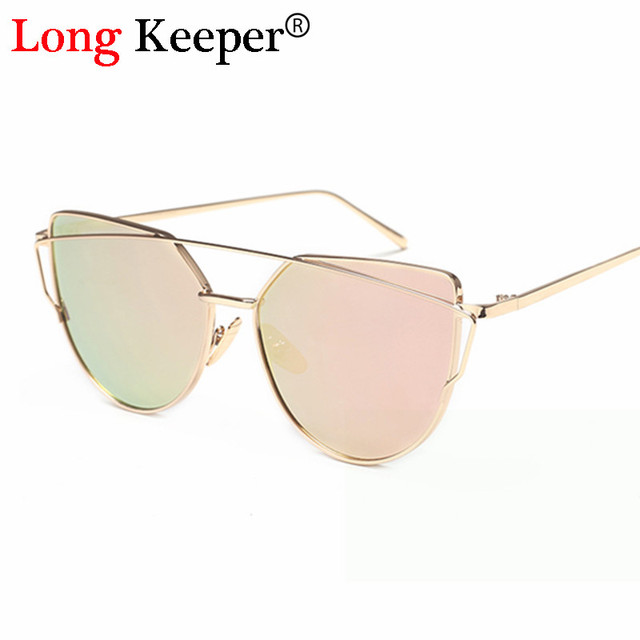 231292ca31 Long Keeper Double Beam Irregular Cat Eye Women Sunglasses Shopping  Personality Glasses Gradient Colors Eyewears UV