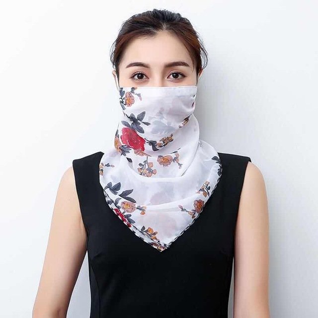 2020 Hot sell mouth mask Lightweight Face Mask scarf Sun Protection Mask Outdoor Riding Masks Protective silk Scarf Handkerchief 3