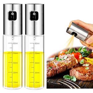 Image 1 - 2PCS Stainless Steel Glass Olive Oil Sprayer Kitchen Oil Spray Bottle Vinegar Bottle Oil Dispenser for Cooking Salad BBQ Tool