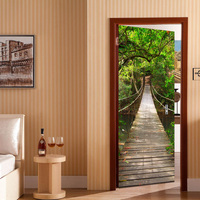 Amazing landscape 3d door sticker adhesive wall picture for living room shop wall decal