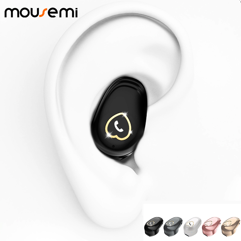 Mousemi Wireless Bluetooth Earphone Sport Mini Earbud V 20 Stereo Earpiece Cellphone Headset Earphones For Xiaomi Samsung Iphone Bluetooth Earphones Headphones Aliexpress