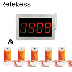RETEKESS Waiter Calling System Cafe Bar Guest Table Card Pagers Wireless Paging Calling System For Restaurant Food Court