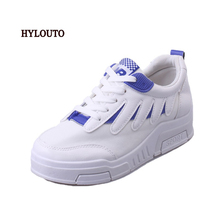 HYLOUTO 2016 Spring Summer Women Student Movement White Canvas Casual Shoes Woman Lazy Low Nurse Shoe Lovers Wing shoes