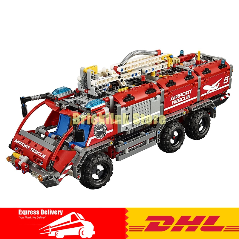In Stock Lepin 20055 Genuine Mechanical Series The Rescue Vehicle Set Children Educational Building Blocks Bricks Toys 42068 the rescue